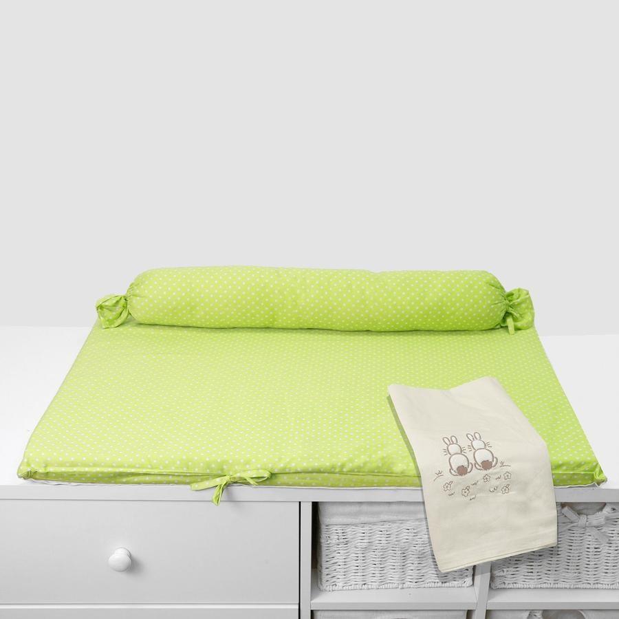 toTs by smarTrike® - Mata do przewijania Joy Rabbit, zielony 100x80x4cm
