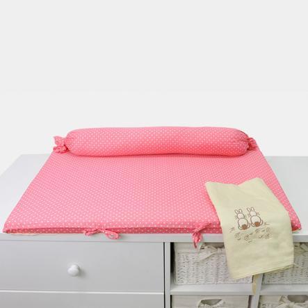 toTs by smarT rike ® - Wikkelmat Vreugde Rabbit , pink 100x80x4x4cm