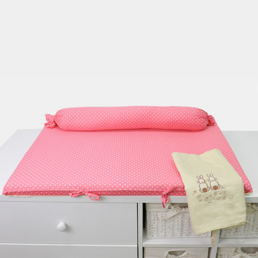toTs by smarTrike® - Materassino fasciatoio Joy Rabbit, pink 100x80x4cm
