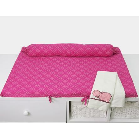 toTs by smarTrike® - Wickelmatte Joy Hippo, pink 100x80x4cm