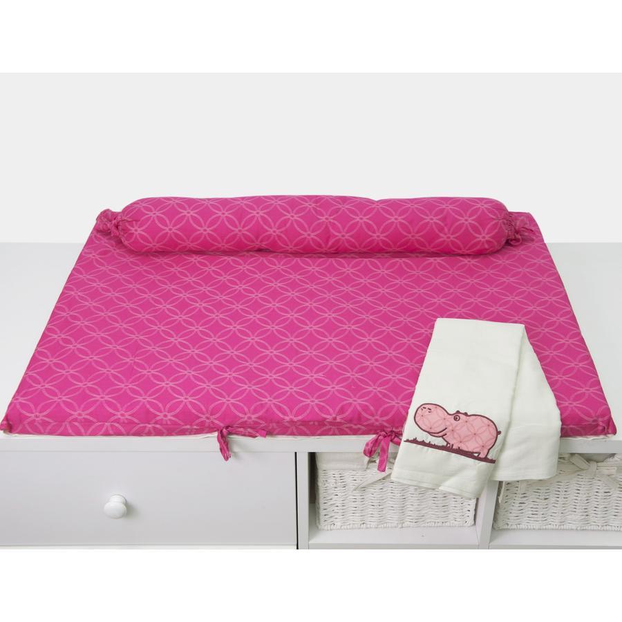 toTs by smarTrike® - Materassino fasciatoio Joy Hippo, pink 100x80x4cm