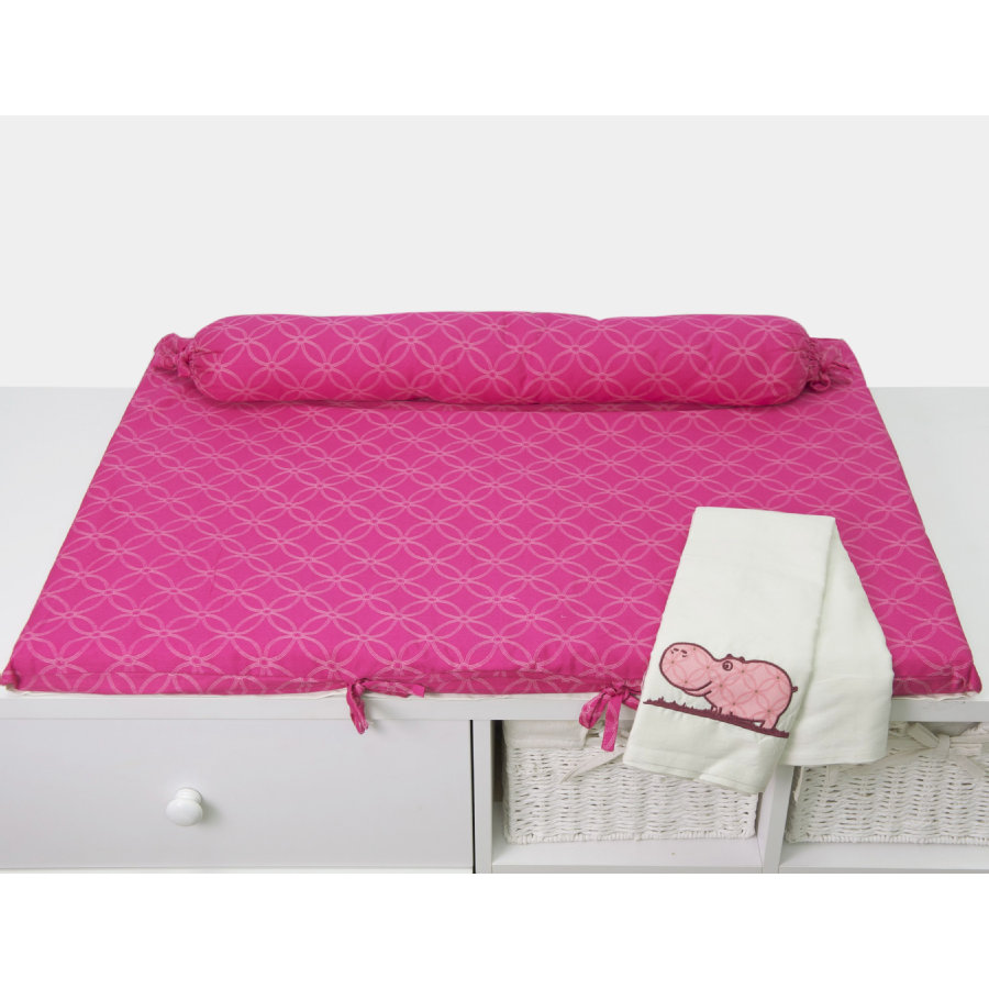 toTs by smarTrike ® - Přebalovací podložka Joy Hippo, růžová 100x80x4cm