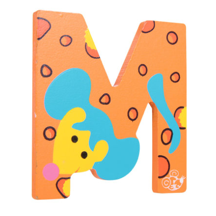 SPIELMAUS Letra de madera M