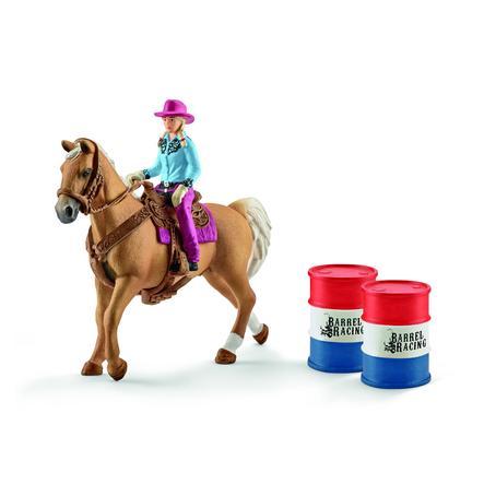 Schleich Tønne-race med cowgirl  41417