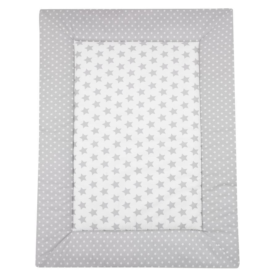 Alvi® Couverture d'éveil Étoiles argent, 100x135 cm