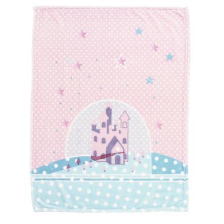 Alvi Coperta in microfibra castello e stelle rosa 75 x 100 cm