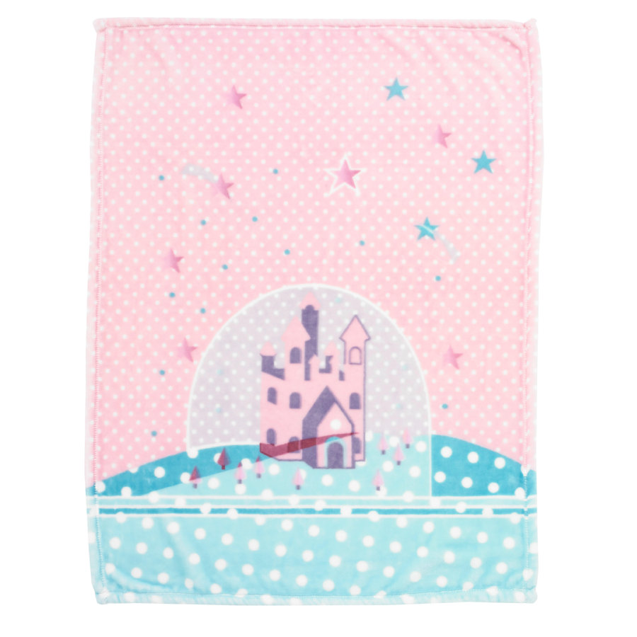 Alvi Microfaserdecke Sternenschloss rosa 75 x 100 cm