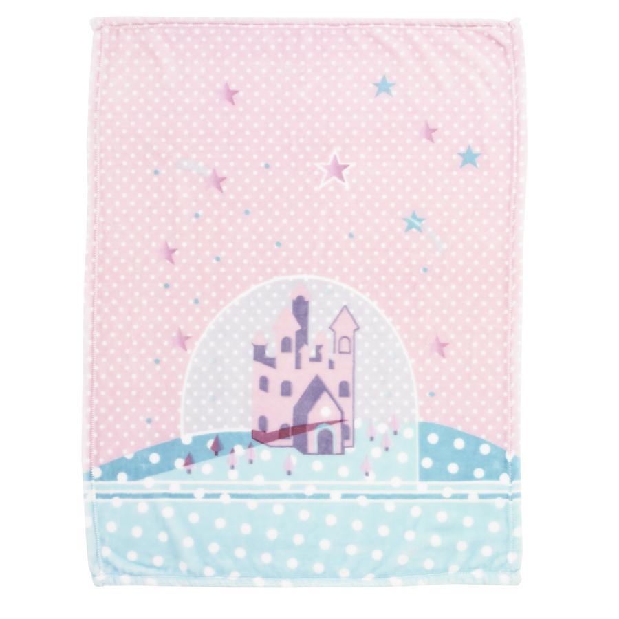 Alvi Mikrofaserdecke Sternenschloss rosa 75 x 100 cm