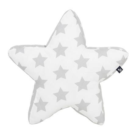 Alvi plyšový polštářek, Stars stříbrná