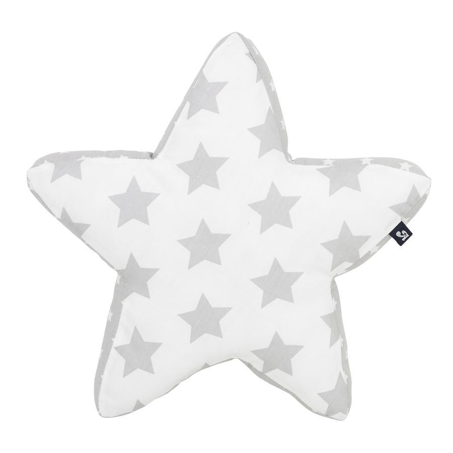 Alvi Cojín Star de peluche s plata