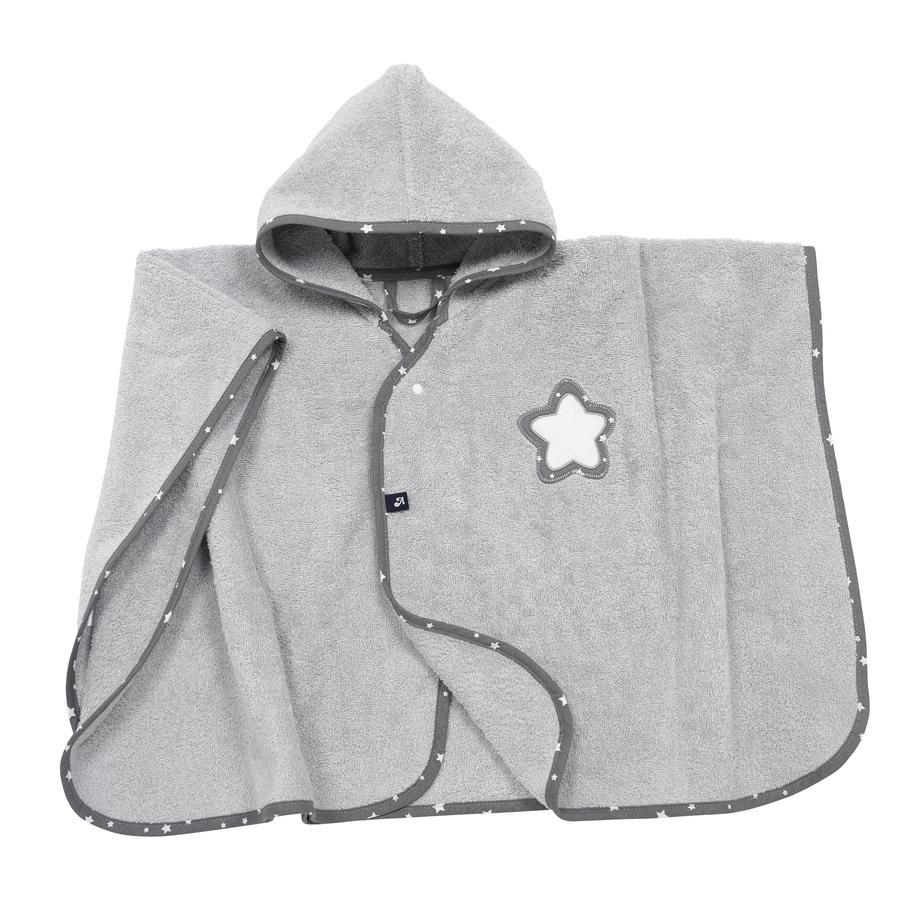 Alvi Poncho algodón rizado, Estrella y estrellitas gris