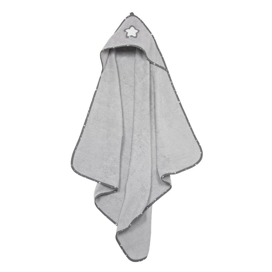 Alvi Ręcznik kąpielowy z kapturem gwiazda frotte i szarość gwiazdki