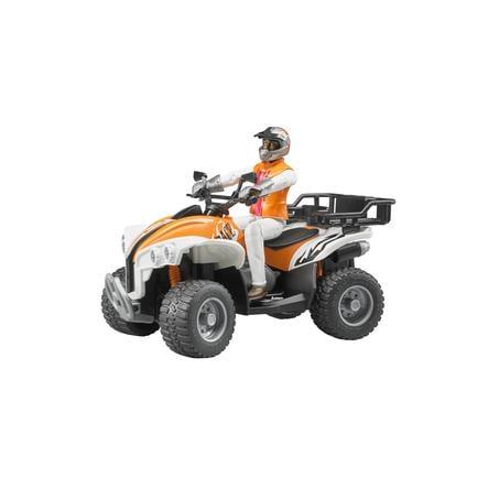 BRUDER® Fyrhjuling med tillhörande förare 63000