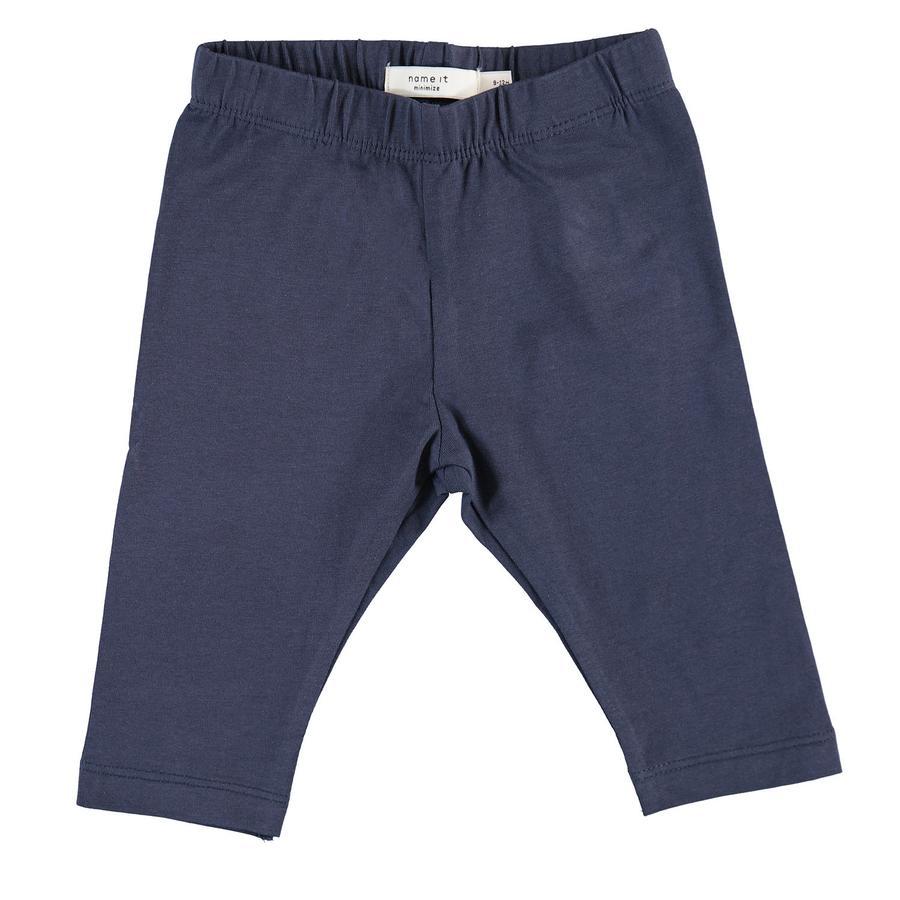 name it Girls Capri Leggings Vivian dress blues