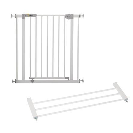 hauck Türschutzgitter Open´n Stop white inklusive Verlängerung 21 cm