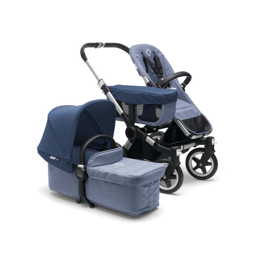bugaboo Kinderwagen Donkey 2 Mono complete blue melange/sky blue