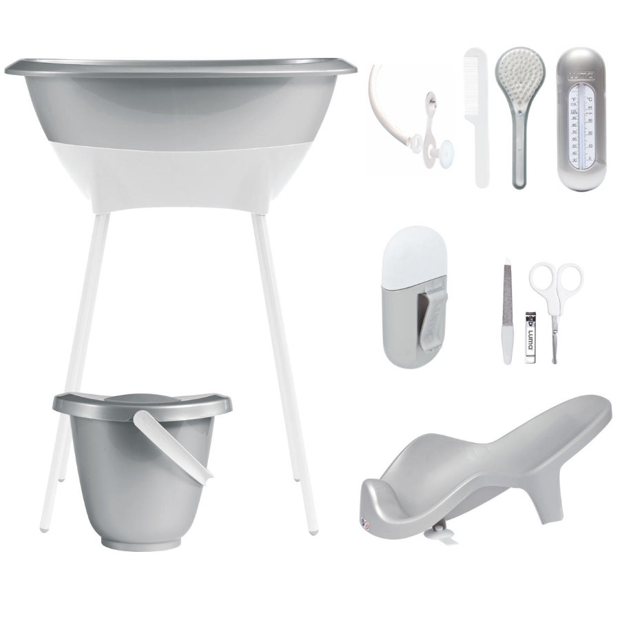 Luma® Babycare Bade- und Pflegeset Sparkling Silver