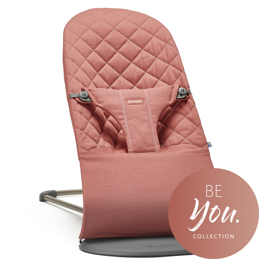 BABYBJÖRN Leżaczek Bliss Cotton BE you Terakota-Pink