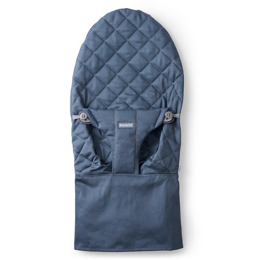 BABYBJÖRN Funda de asiento para hamaca Bliss Cotton azul oscuro