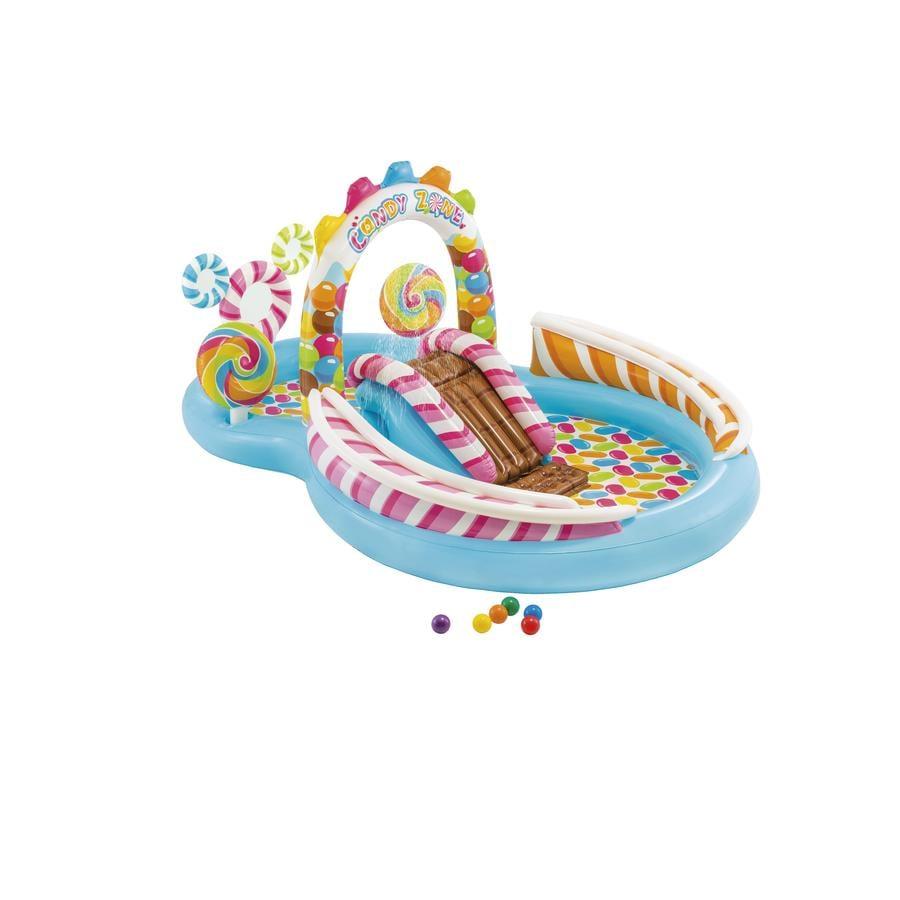 INTEX® Basen/Plac zabaw- Cukierki ze zjeżdżalnią i spryskiwaczem