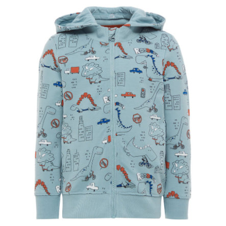 name it Boys Sweatjacke Ettinan stone blue
