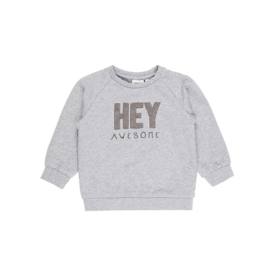 name it Boys Langarmshirt Arne grey melange
