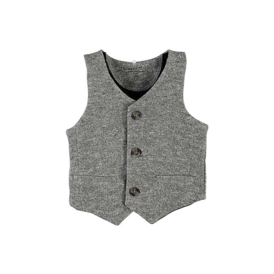 name it Boys Gilet Fint gris mélangé