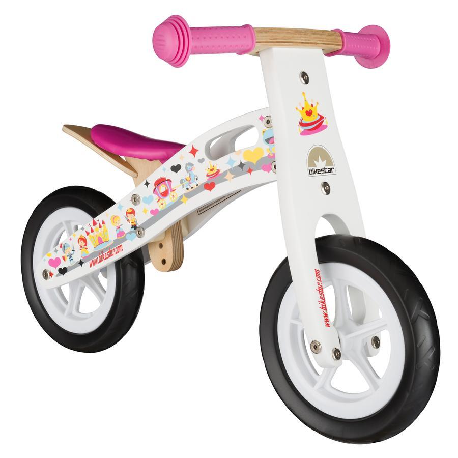 """bikestar Bici senza pedali 10"""" Principessa bianca"""