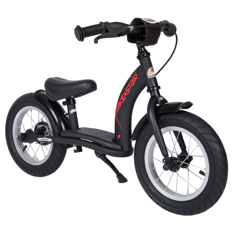 """bikestar Sicherheits-Kinderlaufrad 12"""" Schwarz Matt"""
