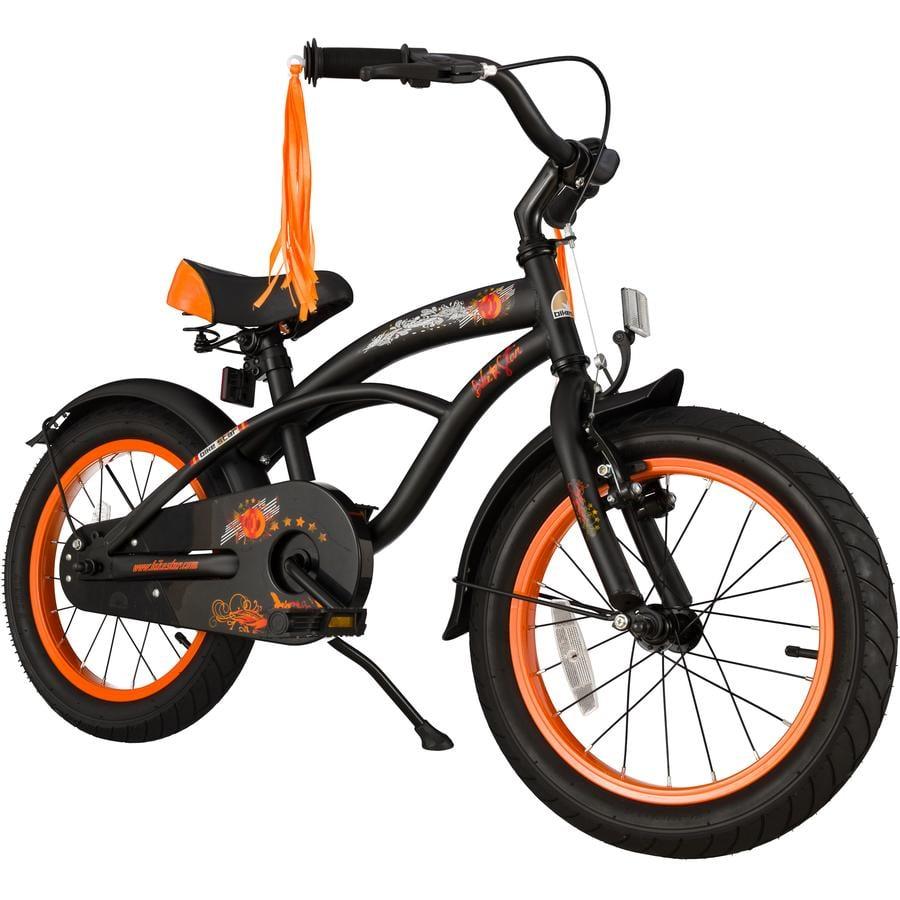 """bikestar Premium Sicherheits Kinderfahrrad 16"""" Cruiser Schwarz"""