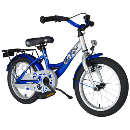 "bikestar Premium Rower 16"", srebrny-niebieski"