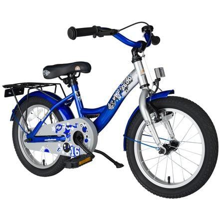 """Bikestar Premium Sikkerheds børnecykel 16"""" Klassik Sølv-Blå"""