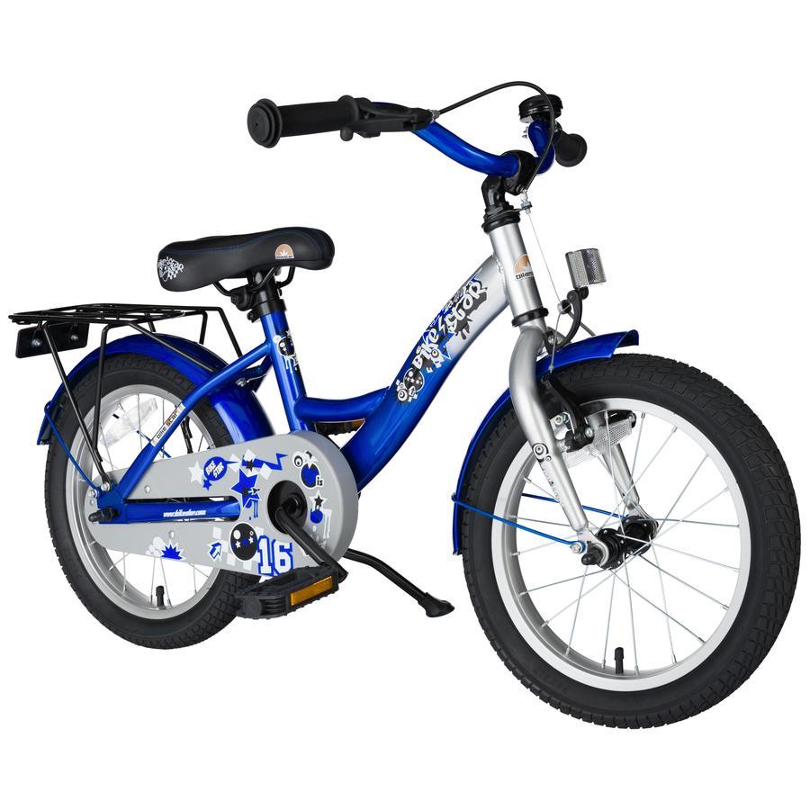 bikestar® Vélo enfant premium 16 pouces bleu argent