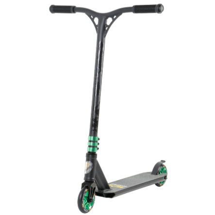 bikestar Trottinette enfant STAR-SCOOTER® Freestyle 110 mm noir/vert