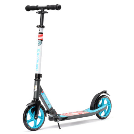 bikestar STAR-SCOOTER® Premium Design City Step Scooter 205mm grijs-blauw