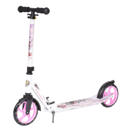 bikestar STAR-SCOOTER®  XXL City Scooter 205 mm Weiß Lila