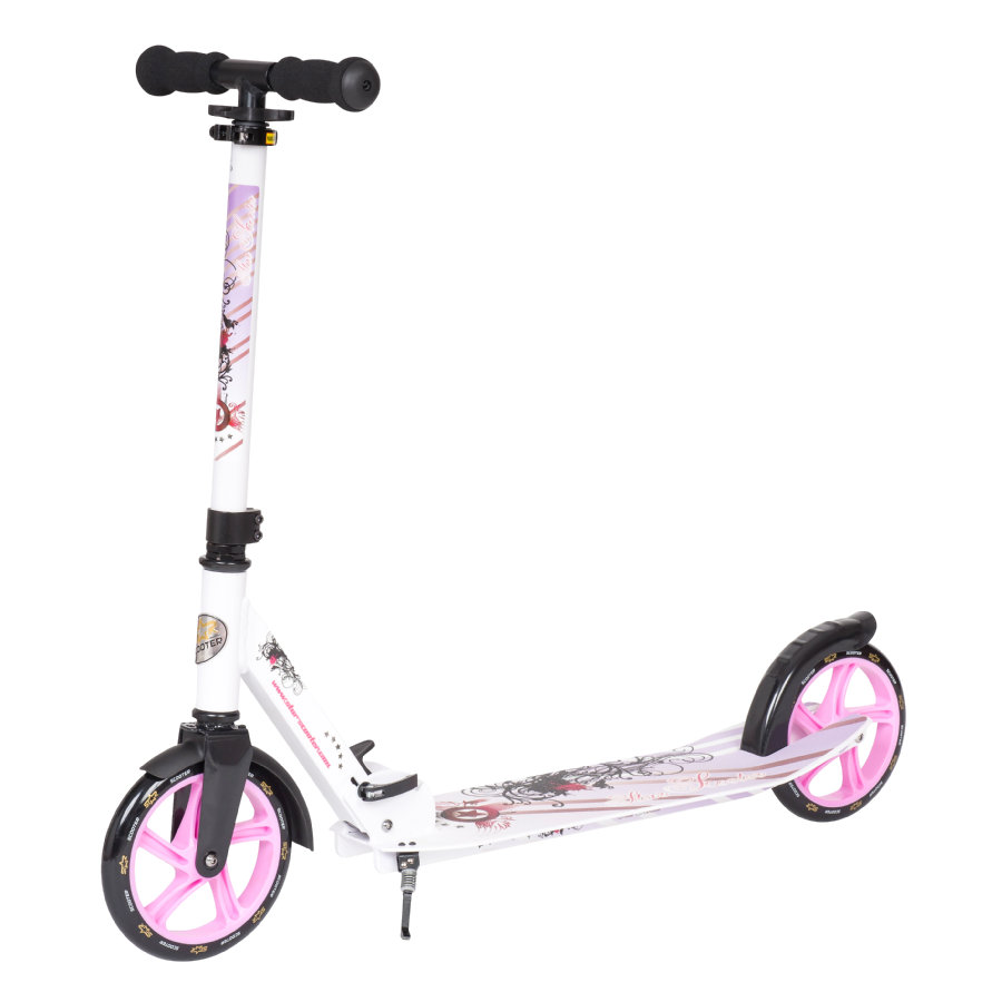 bikestar STAR-SCOOTER® Premium Design City Step Scooter 205mm wit-lila