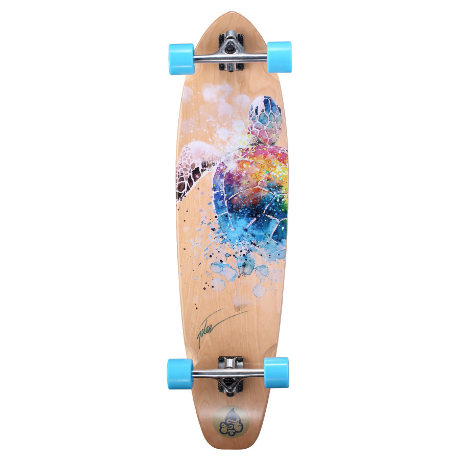 Star-Skateboard Premium Canadian Longboard 65mm Turtle