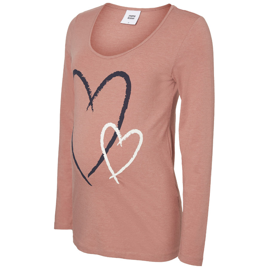 mama licious Umstandsshirt MLHEARTIE Old Rose