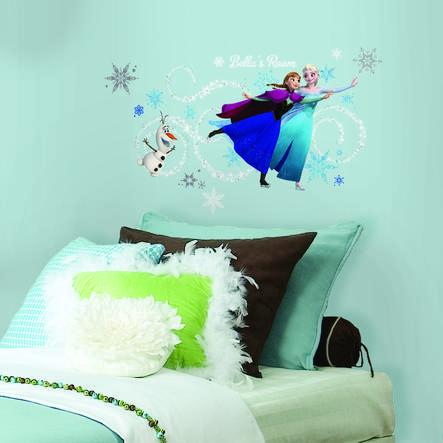 RoomMates® Autocollants La Reine des neiges - Anna, Elsa, Olaf
