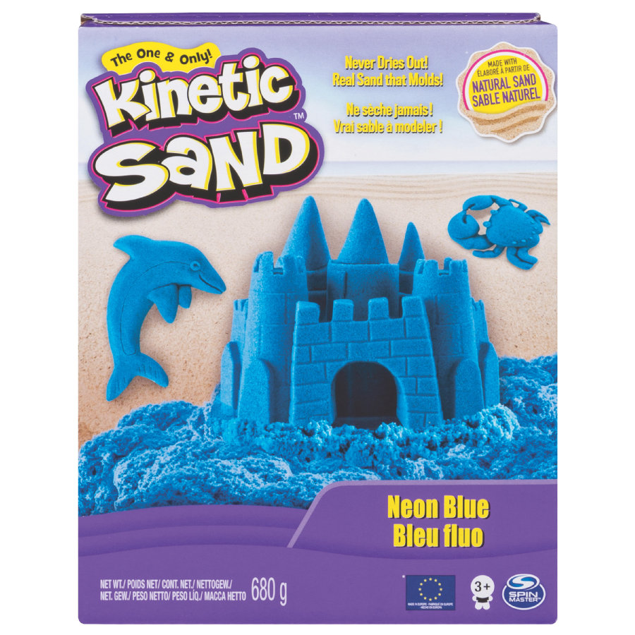 spin master kinetic sand neon sand blau. Black Bedroom Furniture Sets. Home Design Ideas