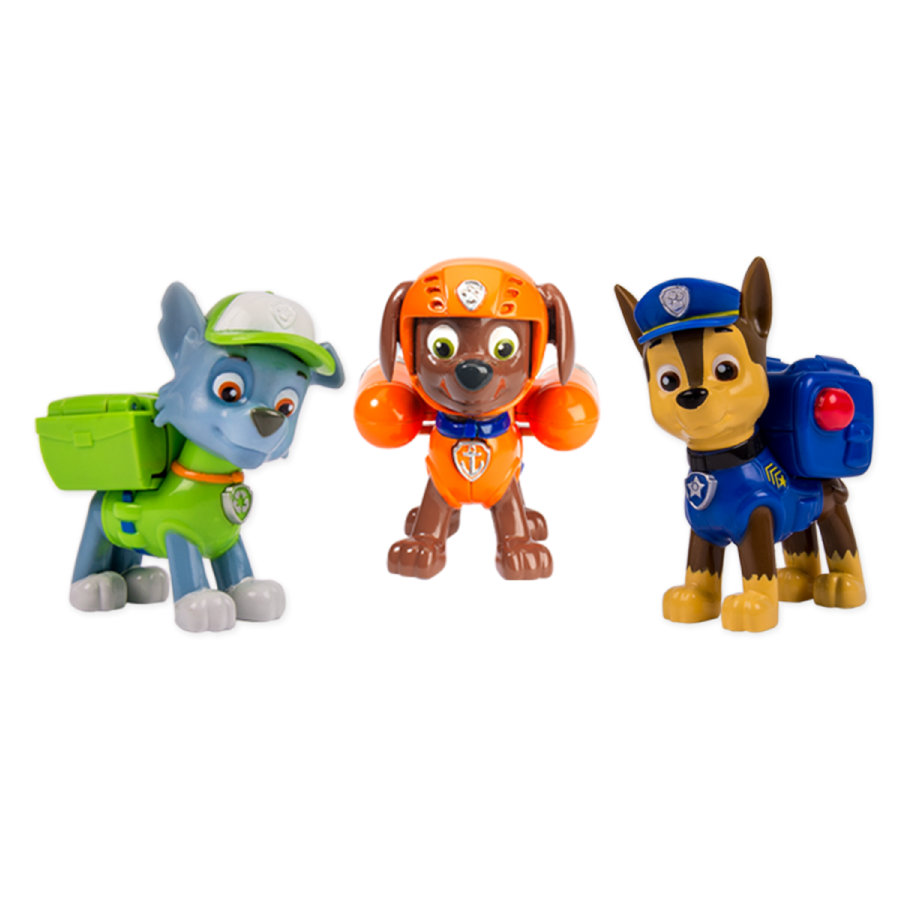 Spin Master Paw Patrol Action Pack - Chase, Rocky, Zuma