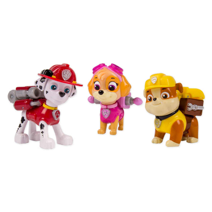 Spin Master Paw Patrol Action Pack - Marshall, Rubble, Skye