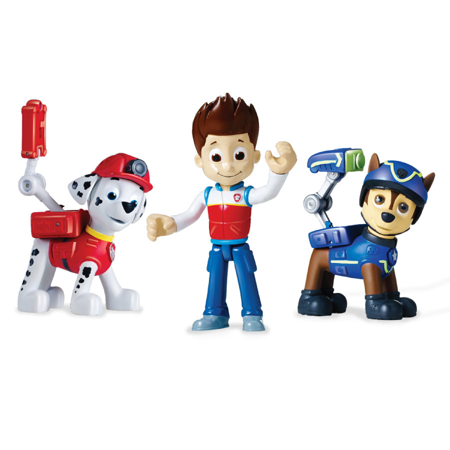 Spin Master Paw Patrol Action Pack - Spy Chase, Rescue Marshall, Ryder