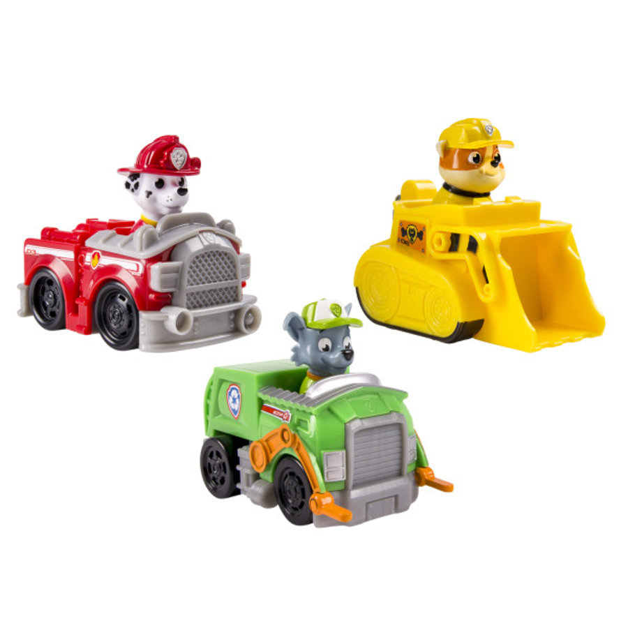 Spin Master Paw Patrol Rescue Racers sada - Marshall, Rocky, Rubble