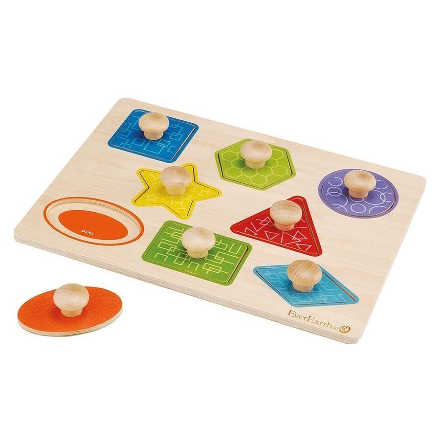 EverEarth® Barevné a tvarové puzzle
