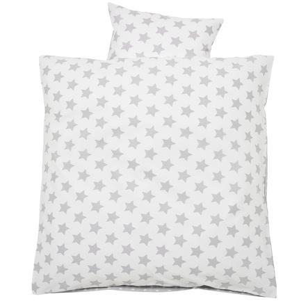 Alvi Ropa de cama 80 x 80 cm, Estrellas plateadas