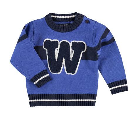 BLUE SEVEN Boys Sweter z dzianiny, niebieski.