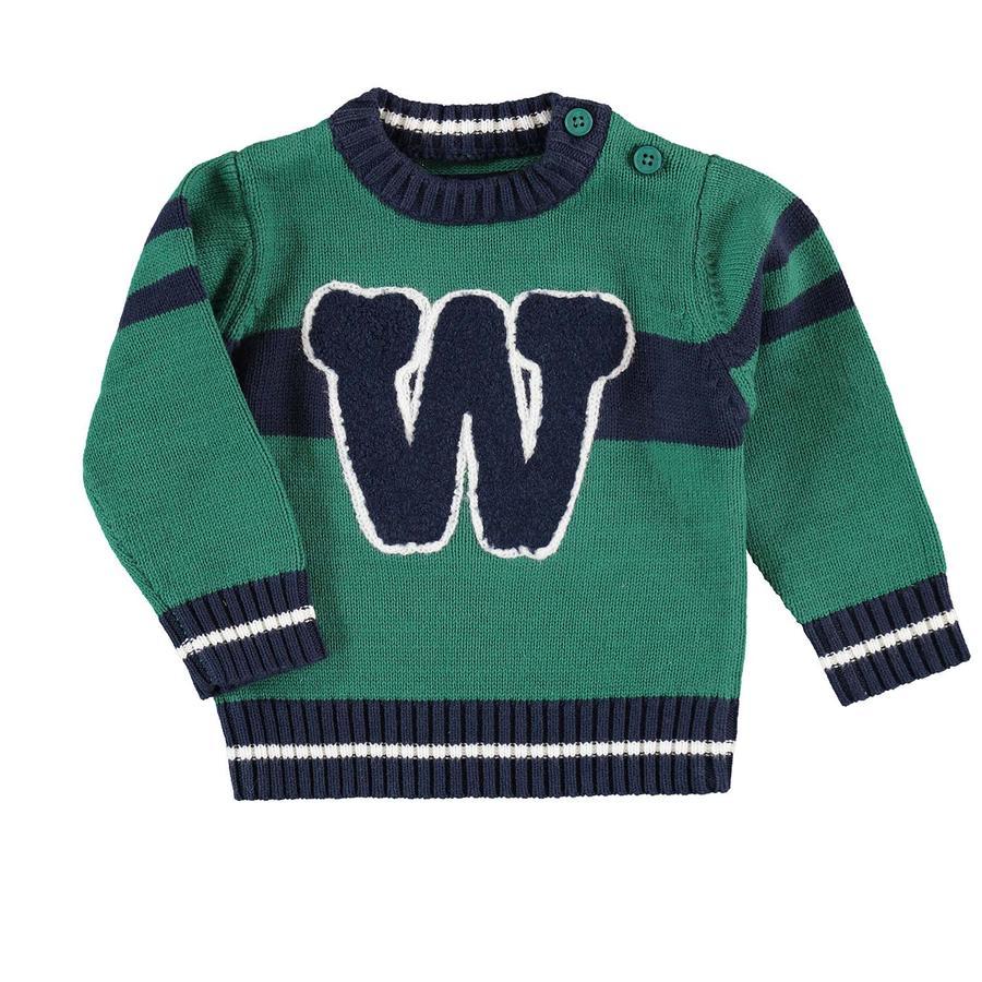 BLUE SEVEN Boys sweter z dzianiny zielony