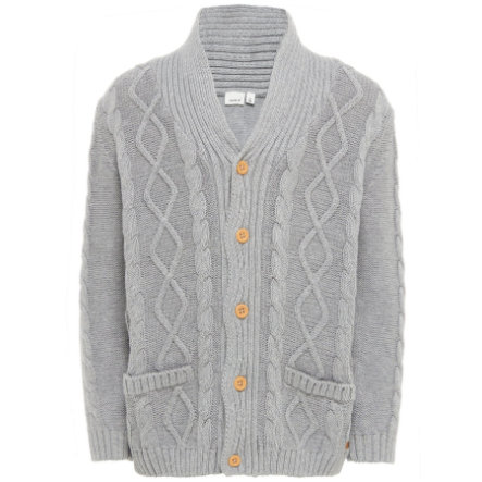 name it Boys Cardigan Finkal gris mélangé